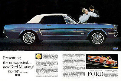 1964 Ford Mustang - Promotional Advertising Poster