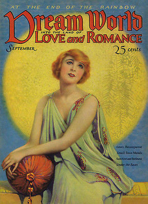 Dream World Love and Romance - Comic Book Cover Poster