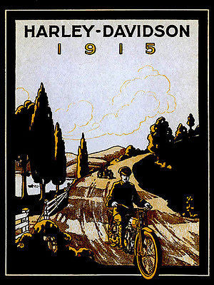 1915 Harley - Davidson Promotional Advertising Poster