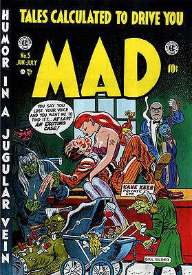 MAD Magazine #5 - June / July 1953 - Cover Mug