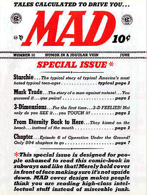 MAD Magazine #12 - June 1954 - Cover Poster