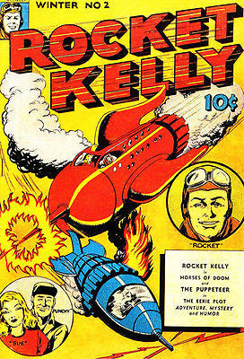 Rocket Kelly - Winter 1944 - Comic Book Cover Poster