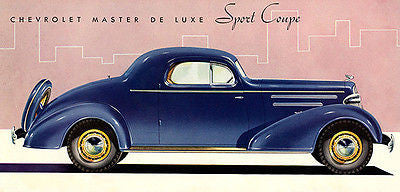 1935 Chevrolet Master Deluxe Sport Coupe - Promotional Advertising Poster