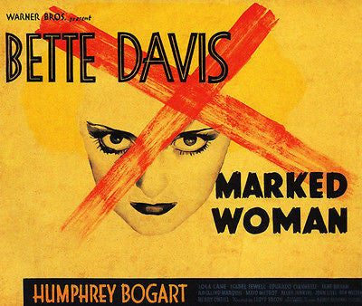 Marked Woman - Bette Davis - 1937 - Movie Poster
