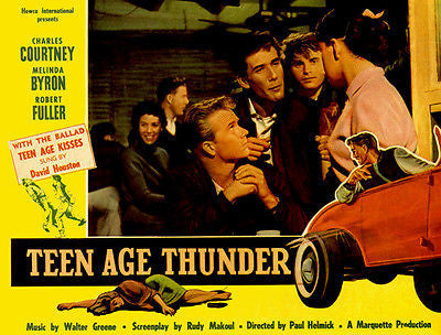 Teen Age Thunder - 1957 - Movie Poster