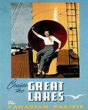 1940's Cruise the Great Lakes - Canadian Pacific - Travel Poster