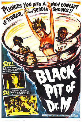 Black Pit of Dr. M - 1959 - Movie Poster