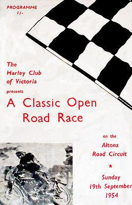 1954 Classic Open Motorcycle Road Race - Altona Circuit - Promotional Magnet