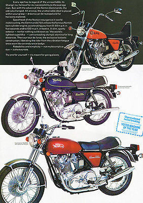 1973 Norton Commando Line - Promotional Advertising Poster