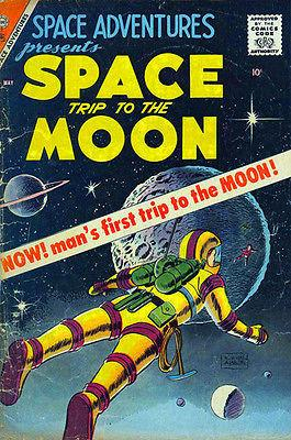 Space Trip to the Moon - Comic Book Cover Magnet
