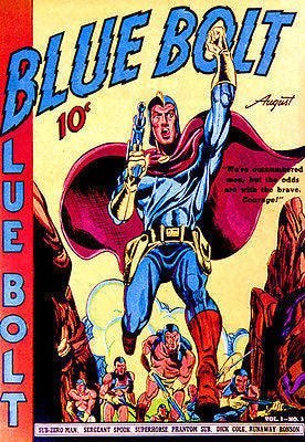 Blue Bolt - August 1940 - Comic Book Cover Poster