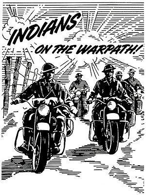 1943 Indian Motorcycles - Indians on the Warpath - Promotional Advertising Magnet