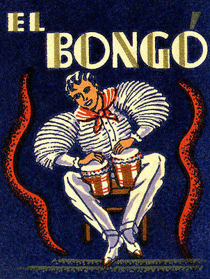 1930's - El Bongo - Matchbook Advertising Poster