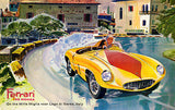 1955 Ferrari 750 Monza on the Mille Miglia Track - Promotional Advertising Poster