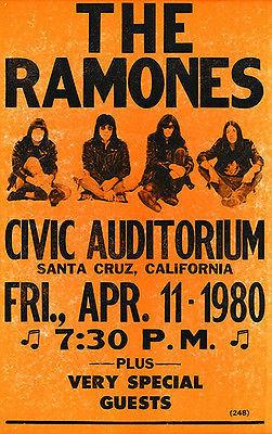 The Ramones - 1980 - Santa Cruz California - Concert Poster Mug