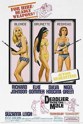 Deadlier Than The Male - 1967 - Movie Poster