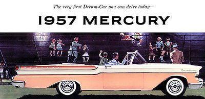 1957 Mercury Monterey Convertible - Promotional Advertising Poster