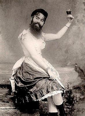 1890's Carnival Sideshow - Annie Jones - Bearded Woman - Postcard Magnet