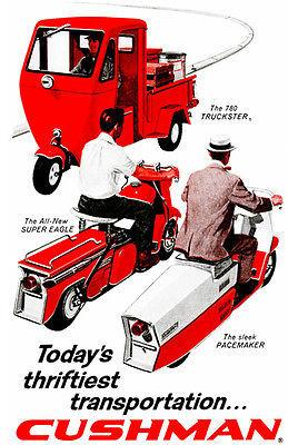 1959 Cushman - Promotional Advertising Magnet