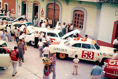 1953 Lincoln Capri V8 Carrera at Pan Americana Road Race - Photo Poster