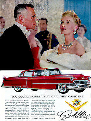1954 Cadillac - Guess Which Car They Came In - Promotional Advertising Poster