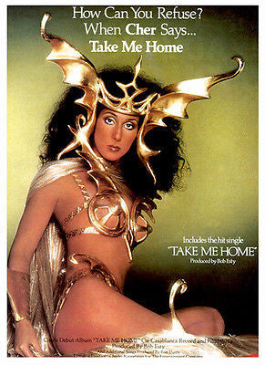Cher - Take Me Home - 1979 - Album Release Promo Poster