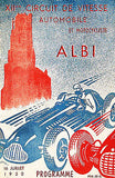 1950 Albi Grand Prix - Promotional Advertising Poster