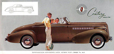 1937 Buick Convertible Coupe - Promotional Advertising Poster