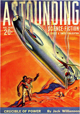 Astounding Science Fiction - February 1939 - Magazine Cover Poster