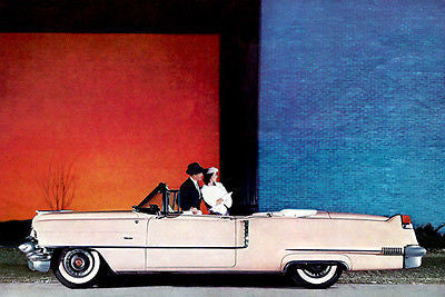1956 Cadillac Convertible - Promotional Advertising Poster