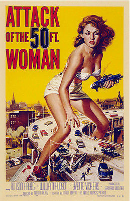Attack of the 50ft Woman - 1958 - Movie Poster