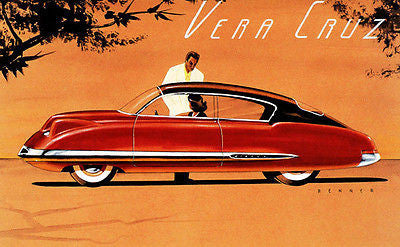 1948 Chevrolet Vera Cruz Concept Car - Promotional Advertising Poster