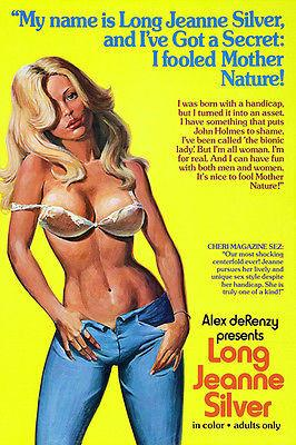 Long Jeanne Silver - 1977 - Movie Poster Magnet