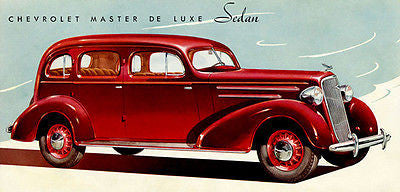 1935 Chevrolet Master Deluxe Sedan - Promotional Advertising Poster