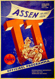 1954 Dutch T. T. Motorcycle Race - Promotional Advertising Poster