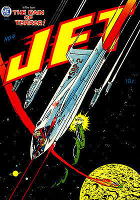 Jet Powers #4 - 1951 - Comic Book Cover Poster