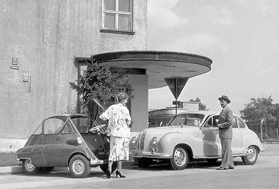 1955 BMW 502 V8 & BMW Isetta - Promotional Photo Poster
