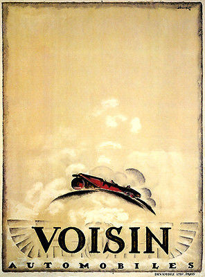 1923 Voisin Automobiles - Promotional Advertising Poster
