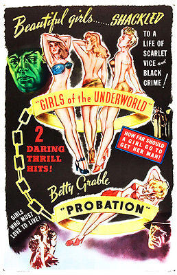 Girls of the Underworld & Probation - Combo  - 1940 - Movie Poster