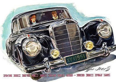 1953 Mercedes 300 S Coupe - Promotional Advertising Poster