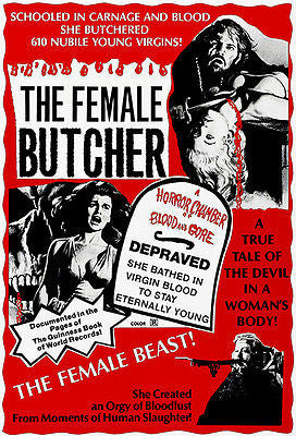 The Female Butcher - 1973 - Movie Poster