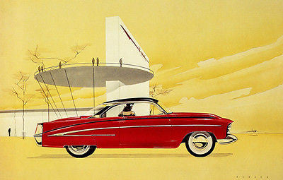 1951 Chevrolet Concept Car - Promotional Advertising Poster