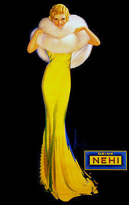 Drink NEHI - Pinup - 1929 - Promotional Advertising Poster