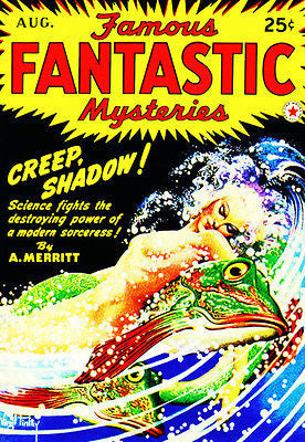 Famous Fantastic Mysteries - August 1942 - Magazine Cover Poster
