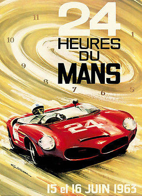 1963 24 Hours of Le Mans Race - Promotional Advertising Poster