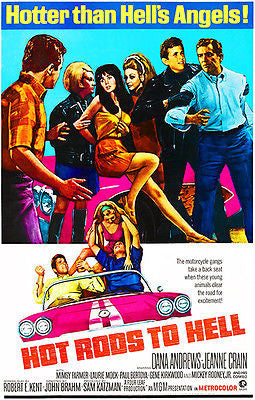 Hot Rods To Hell - 1967 - Movie Poster