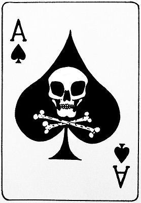 Vietnam War Era - Ace of Spades Death's Head Card -  Poster