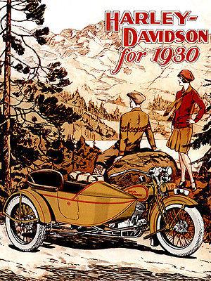 1930 Harley-Davidson - Promotional Advertising Magnet