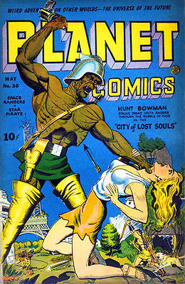 Planet Comics #30 - May 1944 - Comic Book Cover Poster