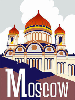 1930's - Moscow - Travel Advertising Poster